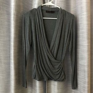 The Limited gray wrap top